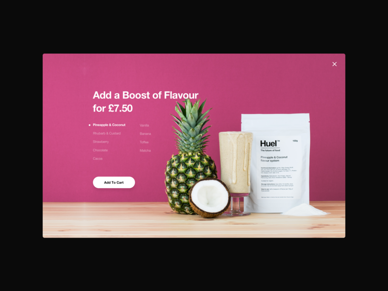 Huel - Flavor Add ons clean pineapple hero upsell product ecommerce shopify
