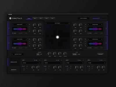 Fractals — Audio FX interface dark ui fx music audio mac app