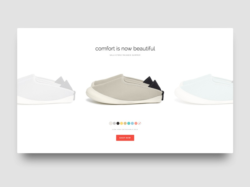 Mahabis Product Selector grid slipper sneaker shop store ui simple minimal white clean e-commerce product