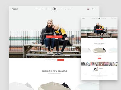 Mahabis Home Page desktop website nike product shop store e-commerce minimal clean white hero landing