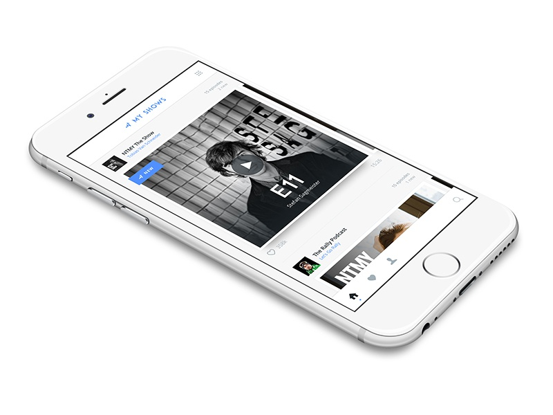 Podcast Feed simple clean timeline episode apple show podcast ios app list home feed