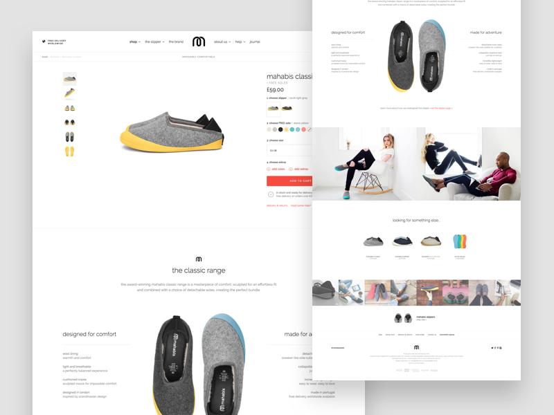 Mahabis Product Page ux ui desktop responsive minimal white clean e-commerce cart store shop product