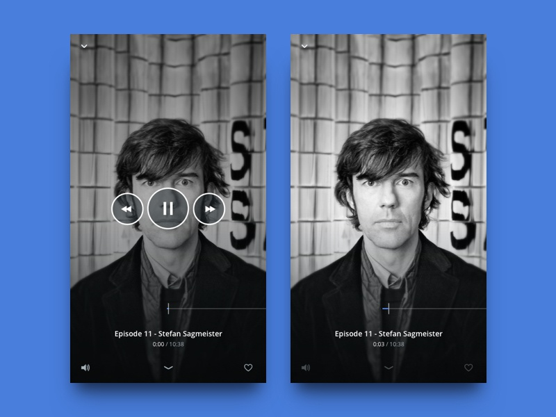 Player UI audio android ios app mobile ux ui podcast music player
