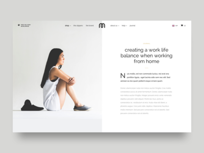 Article Page grid type photography white clean simple minimal article blog