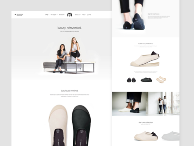 Mahabis Luxe Slipper desktop responsive grid layout ui white hero home clean footwear slipper