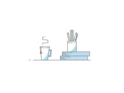 Coffee + Art = A Productive Day animation production pre-production explainer video vectorimage vectorofday vector illustration
