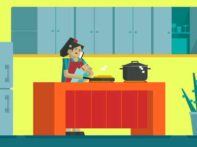 Hectic Day! promotional video vector kasra design illustration animation character cooking scene