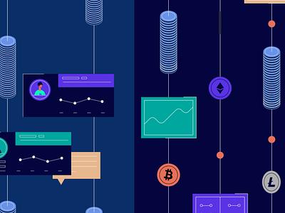 Salt - Motion Graphics 2d illustration bitcoin dashcoin crypto video production explainer video motion graphics 2d animation