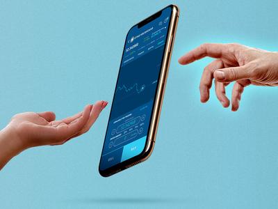 Crypto trade mobile app