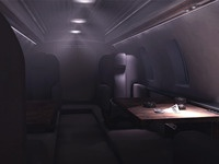 Interior of a private jet