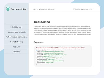Tecnical Documentation Page css3 html5 freecodecamp code adobexd design ui ux uiux uidesign webdesign web website