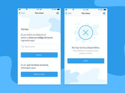 Mobile App / Virtual queue
