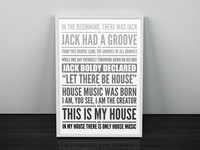 Jack had a groove poster