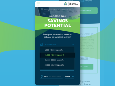 Mobile Redesign for US Energy Recovery