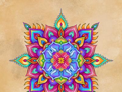 iPad painting procreate digital art ipad mandala