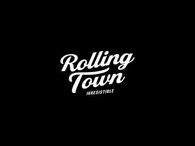Rolling Town Logo brand logotype branding brand identity graphicdesign typogaphy type design logo