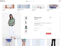 zara online shopping redesign
