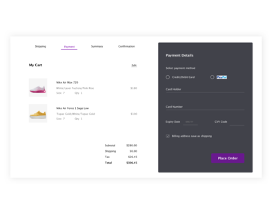 DailyUI#002 - checkout page
