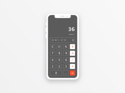 DailyUI#004 - calculator