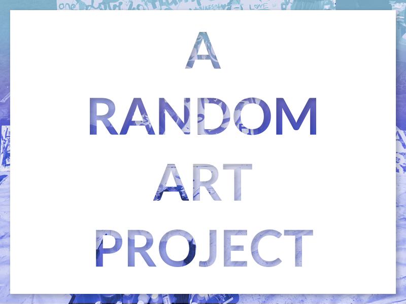 A Random Art Project Branding lato duotone gradient concept branding