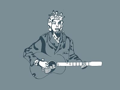 Dylan Sketch illustration bob dylan