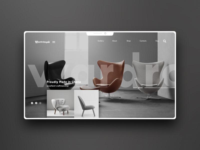 Wardrobeyak website ui ux website design graphic