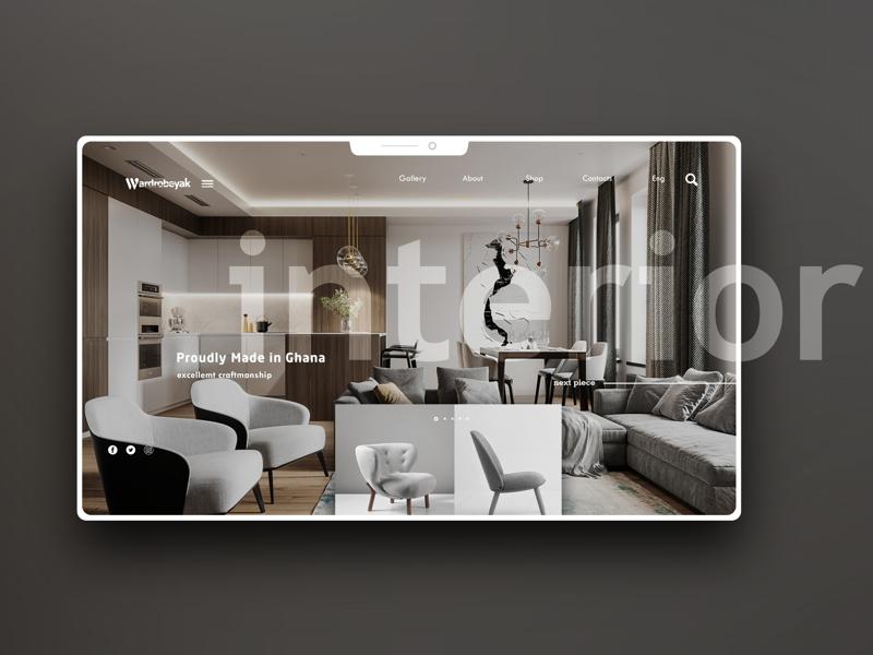Wardrobeyak UI ui ux graphic design website