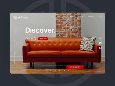 Yakdecor UI/UX web design