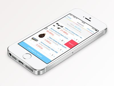 Online Store — Cart ipad iphone ios ios7 ios8 ui ux menu icons sketch