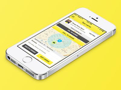 Taxi App ui ux ios mobile app sketch ipad iphone taxi order screen