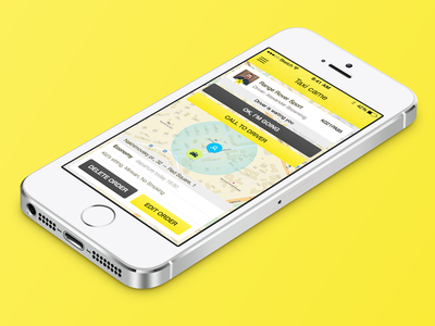Taxi App ui ux ios mobile app sketch ipad iphone taxi order screen