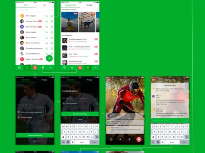 ICQ Redesign sketch live broadcast videochat messenger redesign icq