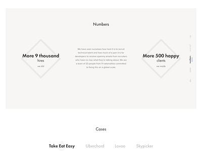 Sourced redesign website web ui sketch site simple recriuter minimalism light landing