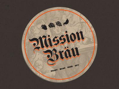 Mission Brau mission brau beer coaster