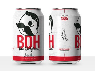 Boh Concept 2 illustration design beer beer can