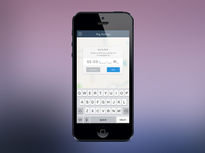 iOS Locate DLS Modal ios mobile modal iphone app petrofeed