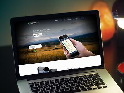 PetroFeed iPhone App Landing Page landing page iphone ios marketing