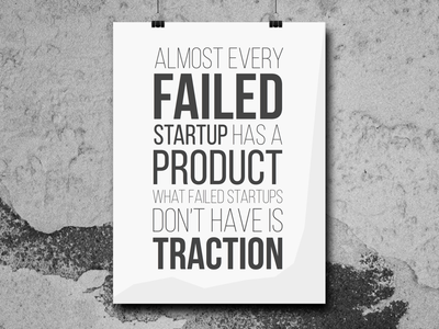 Startup Quote Poster Concept startup poster quote typography
