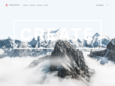 Firescript 2021 ui landing page white space web design