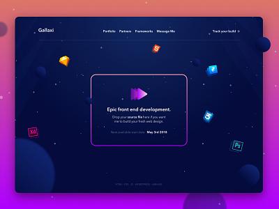 A simple UI to starting projects app saas gradients dark ui gallaxy space