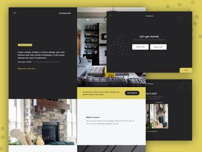 mantlewood step by step wizard web app interactive vue whitespace css flexbox full width fullscreen yellow