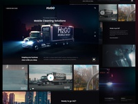 Dark CG Hero landing page business twilight skyline neon black dark hero ui  ux design web design 3d cg