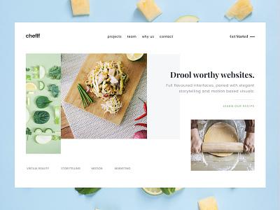 Let's make drool worthy websites. app ui web design web designer web page design ui deign clean whitespace white landing page