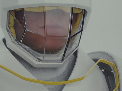 Teer glass yellow character 3d render minimal design white simple