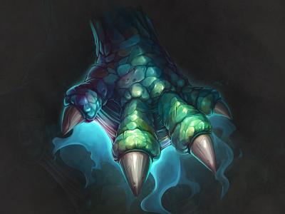 Fantasy Dragon paw🖐 art arttutorial drawing gameart fantasy conceptart digitalart dragon design character juboart illustration cg 2d