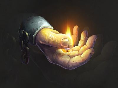 Wax hand✌️ hand candle wax hand drawn digitalart conceptart character juboart illustration 2d art