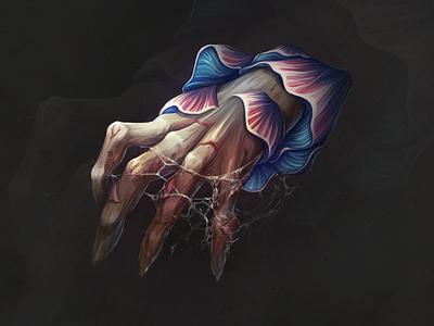 Hands of monster😈 artwork digitalart artist hand drawn anatomy character juboart illustration cg 2d art