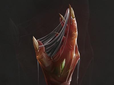 Monster hand digitalart fantasy gameart monster character magic juboart illustration cg game 2d art
