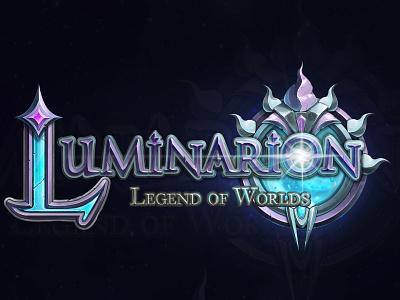 Logo for card game Luminarion digitalart games 2d sci-fi fantastic gameart gameinterface design logo ui game