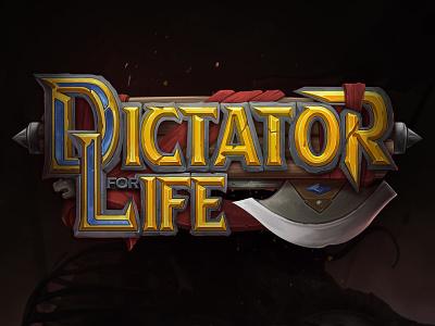 """Dictator for life"" logo for card game 2d logotype digitalart ui cardgame gameart fantasy logodesign logo"